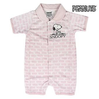 Baby's Short-sleeved Romper Suit Snoopy 74582