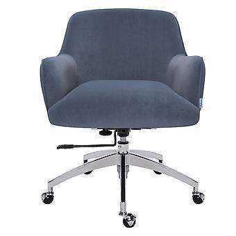 Samt Drehstuhl Bürostuhl Armlehne Schreibtischstuhl, Marineblau