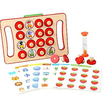 Wooden Memory Matching Game For Kids, Early Development Learning Toys