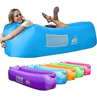 Inflatable Sofa Beach Camping Sleeping Air Sofa(Blue)