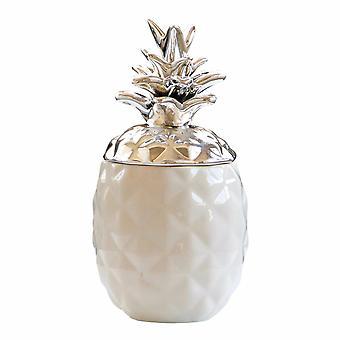 Leeres Glas Keramik Chic Ananas Tee Kaffee Zucker Gläser Lagerung Kanister Home Decor WHITE COLOR L
