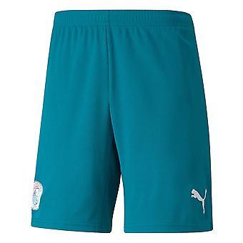 2021-2022 Man City Away Shorts (Ocean Depths) - Kids