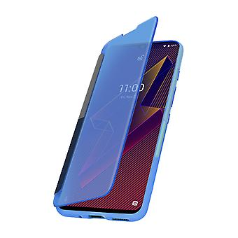 Case Wiko Power U10 and U20 Translucent Window and Touch Wiko Easy Folio Blue