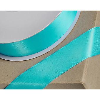 25m Aqua Blue 6mm bredt satinbånd til håndværk