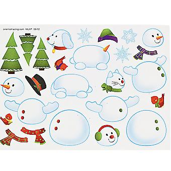 12 Build a Snowman Sticker Sheets for Kids Christmas Crafts & Parties