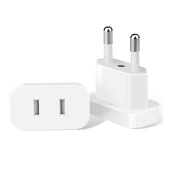 Us Jack To Eu Plug Outlet Travel Charger Power Socket Adapter