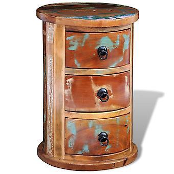 vidaXL armoires avec 3 tiroirs Bois de feu