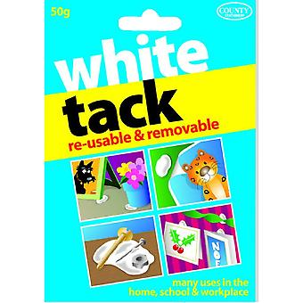 County Stationery White Tack (Pack of 12)