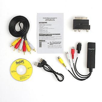 Ammatillinen Usb2.0 Vhs Dvd Muunnin Audio Video Capture Kit Scart Rca