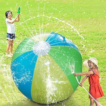 75cmの直径膨脹可能な水スプレービーチボール夏の屋外スポーツゲーム子供たち