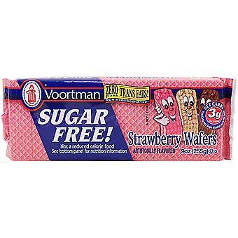 Voortman Strawberry Sugar Free Wafers Cookies
