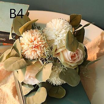 Artificial flower dandelion eucalyptus hybrid bouquet wedding home decoration green artificial plant fake flower
