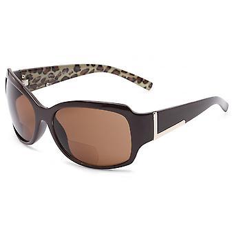 """The Fashionista"" Womens Designer Bifocal Sunglasses Outdoor Reading Glasses - Tortoise - 3.00"