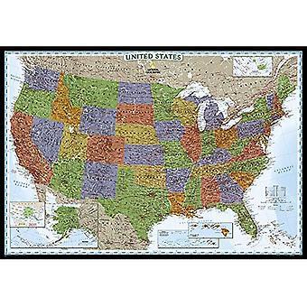 Décorateur politique des États-Unis Carte agrandie: NG. PUS622082