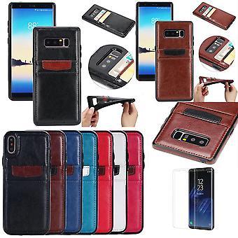 Samsung Galaxy S8 Plus-Leder Brieftasche Abdeckungen