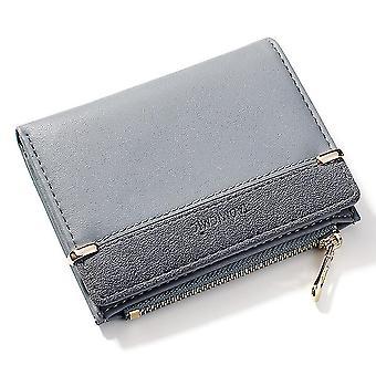 Érme pénztárca, kártya táska, kuplung táska, női pénztárca (Szürke)