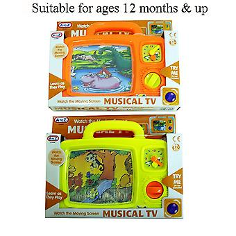 Baby Toddler Wind Up Musical TV Activity Toy 12 Months + Brand New