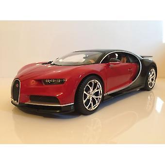 Bugatti Chiron Black and Red 1:18 Scale Burago 11040