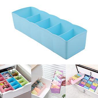 Cinq grilles multifonctions Sous-vêtements Chaussettes Petites choses Boîte de stockage Plastique Finition Boîte Tiroir Bureau Cabinet de lit