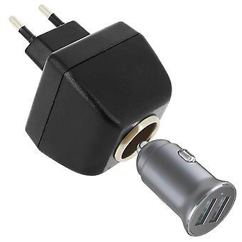 Female Cigarette Lighter Socket Adapter To Power Outlet 220v-12v
