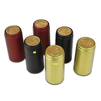 50pcs 30mm Pvc Tear Tape Wine Bottle Heat Shrink Cap
