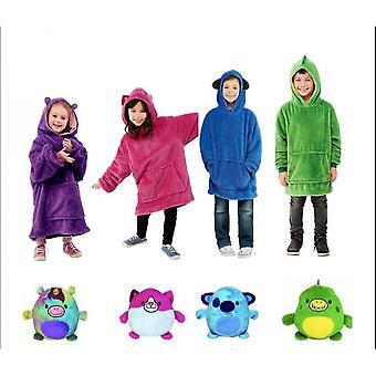 Plush Soft Kids Hoodie Blanket Pullover