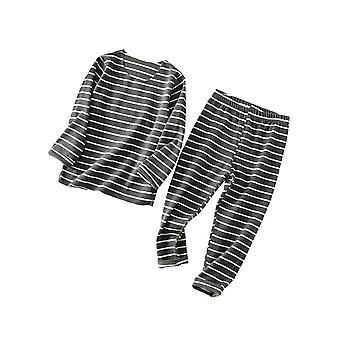 Girls Boys Children Sleepwear Thermal Warm Long Sleeve Pajamas