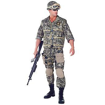 US Army Ranger Deluxe soldat militær Uniform marinen kamp menn kostyme én størrelse