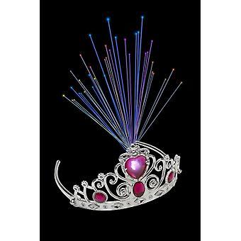 Leuchtende Glasfaser-Diadem Rosa Juwelen