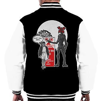 Stranger Ride Themepark Things Men's Varsity Jacket