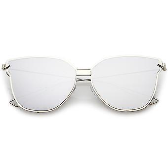 Oversize kot okulary przeciwsłoneczne z dublowanego płaski obiektyw i drutu broni 59mm