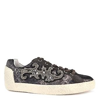 Ash Footwear Nymphea Bistro Suede And Printed Trainer