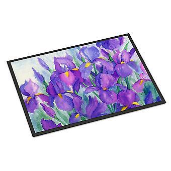 Carolines Treasures  IBD0256MAT Purple Iris Indoor or Outdoor Mat 18x27