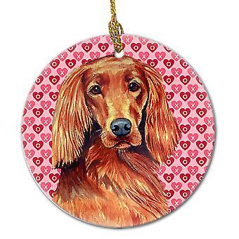 Carolines Treasures  LH9164CO1 Irish Setter Valentine's Love and Hearts Ceramic