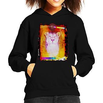 Sweat-shirt à capuche de reine lionne Kid