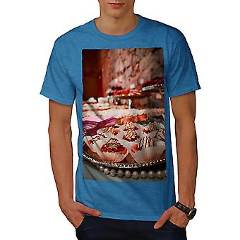Wüste Foto Kuchen essen Männer Royal BlueT-Hemd | Wellcoda