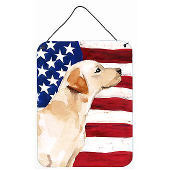 Gelber Labrador #2 patriotischen Wand oder Tür hängen Drucke