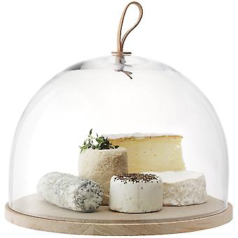 LSA International Ivalo Cake/ Cheese/Pastries Dome On Ash Base - 32cm LSA International Ivalo Cake / Cheese / Pastries Dome On Ash Base - 32cm