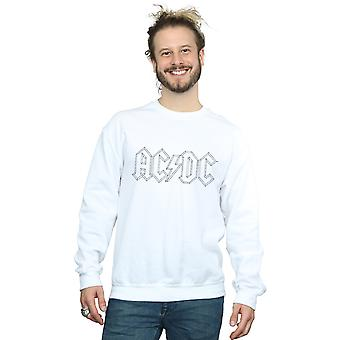 AC/DC Men's Black Outline Logo Sweatshirt