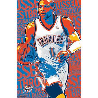 Oklahoma City Thunder - R Westbrook 13 Poster drucken