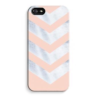 iPhone 5C koko Tulosta tapauksessa (kiiltävä) - Marble nuolet