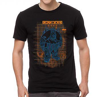 Le cinquième élément Schéma Mondo noir T-shirt homme