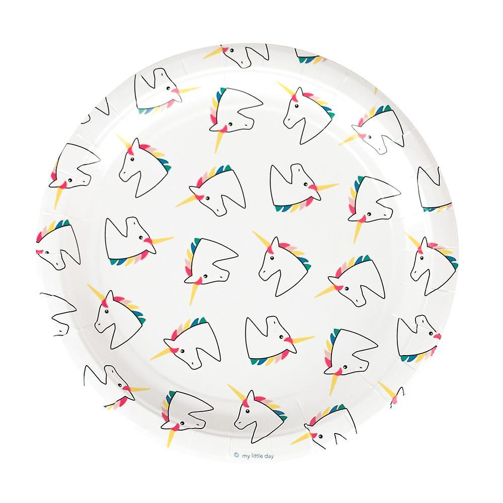 Unicorn Paper Plates Pack of 8 Unicorn Themed Party