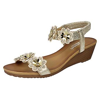 Ladies Savannah Mid Wedge Sandals