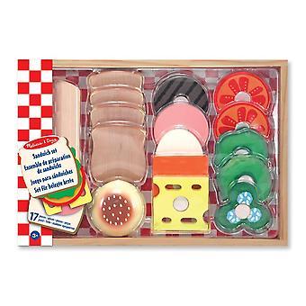 Melissa & Doug trä Sandwich-Making låtsas spela mat Set