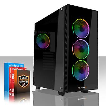 Felle GUARDIAN Gaming PC, snelle AMD Ryzen 5-2600 3,9 GHz, 1 TB HDD, 8 GB RAM, GTX 1050 2 GB