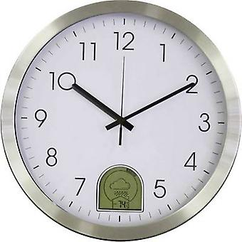 EUROTIME 57010 Radio Wall clock 35 cm Aluminium 12/24h weather forecast