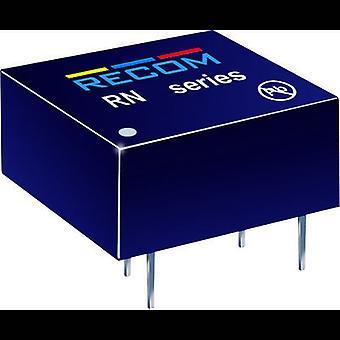 REKOM RN-1215S/P 1.25W DC/DC omvandlare RN-1215S/P 15 V 83 mA 1,25 W