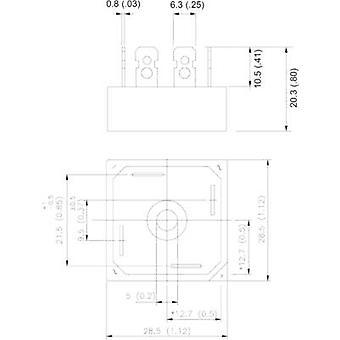 Vishay 36MB120A Diode bro D 34 1200 V 35 A 1-fase