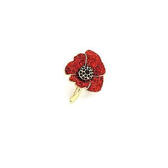 Union Jack Wear Glittering Poppy Brooch